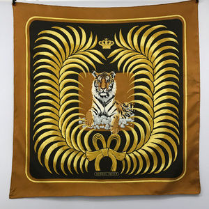 HERMES Vintage Lion & Crown Scarf